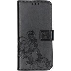 Etui de téléphone Fleurs de Trèfle Samsung Galaxy A70 - Noir