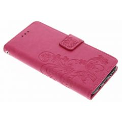 Etui de téléphone Fleurs de Trèfle Samsung Galaxy S8 - Rose