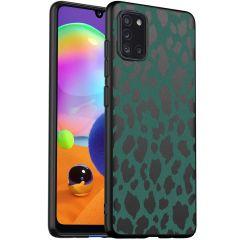 iMoshion Coque Design Samsung Galaxy A31 - Léopard - Vert / Noir