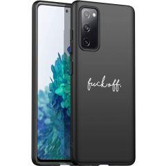 iMoshion Coque Design Samsung Galaxy S20 FE - Fuck Off - Noir