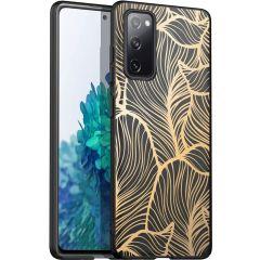 iMoshion Coque Design Samsung Galaxy S20 FE - Feuilles - Dorée / Noir
