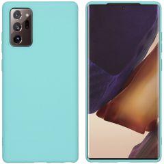 iMoshion Coque Color Samsung Galaxy Note 20 - Menthe verte