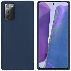 iMoshion Coque Color Samsung Galaxy Note 20 - Bleu foncé