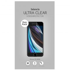 Selencia Protection d'écran Duo Pack Ultra Clear iPhone SE (2020)