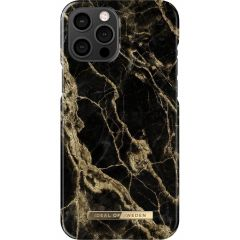 iDeal of Sweden Coque Fashion iPhone 12 Pro Max - Golden Smoke Marble