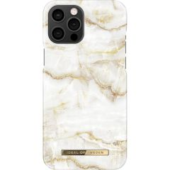 iDeal of Sweden Coque Fashion iPhone 12 Pro Max - Golden Pearl Marble