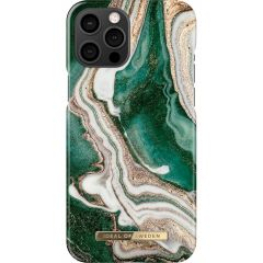 iDeal of Sweden Coque Fashion iPhone 12 Pro Max - Golden Jade Marble