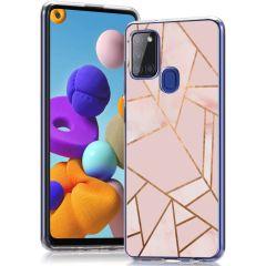 iMoshion Coque Design Samsung Galaxy A21s - Pink Graphic