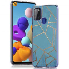 iMoshion Coque Design Samsung Galaxy A21s - Blue Graphic