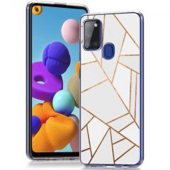 iMoshion Coque Design  Samsung Galaxy A21s - White Graphic