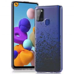 iMoshion Coque Design  Samsung Galaxy A21s - Splatter Black