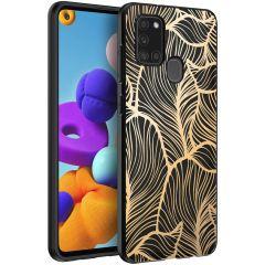 iMoshion Coque Design Samsung Galaxy A21s - Gold Leaves