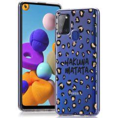 iMoshion Coque Design Samsung Galaxy A21s - Hakuna Matata