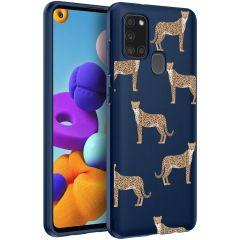 iMoshion Coque Design Samsung Galaxy A21s - Leopard Animal