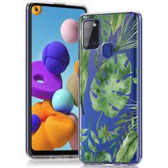 iMoshion Coque Design Samsung Galaxy A21s - Monstera Leaves