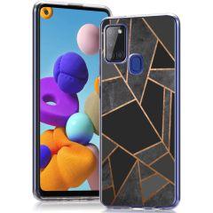 iMoshion Coque Design Samsung Galaxy A21s - Black Graphic