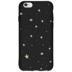 Coque design Color iPhone 6 / 6s - Gold Stars Black