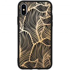 Coque design Color iPhone X / Xs - Golden Leaves