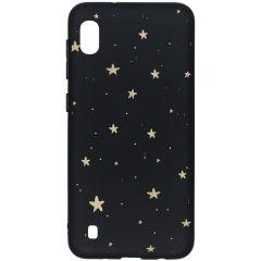 Coque design Color Samsung Galaxy A10 - Gold Stars Black