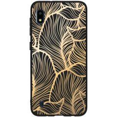 Coque design Color Samsung Galaxy A10 - Golden Leaves