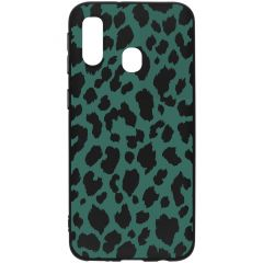 Coque design Color Samsung Galaxy A40 - Green Panther