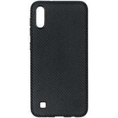 Coque silicone Carbon Samsung Galaxy A10 - Noir