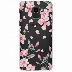 Coque design Samsung Galaxy J6 - Blossom Watercolor Pink