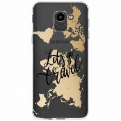Design Backcover Samsung Galaxy J6 - Quote World Map