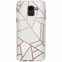 Coque design Samsung Galaxy J6 - White Graphic