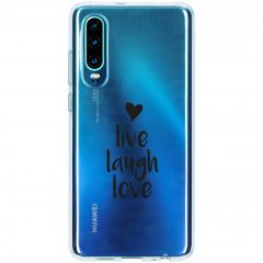 Coque design Huawei P30 - Live Laugh Love