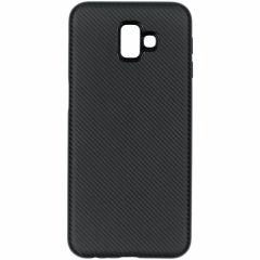 Coque silicone Carbon Samsung Galaxy J6 Plus - Noir