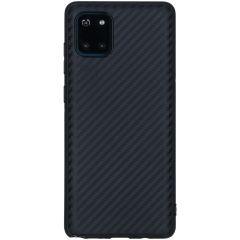 Coque silicone Carbon Samsung Galaxy Note 10 Lite - Noir