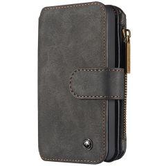 CaseMe Étui luxe 2-en-1 à rabat iPhone 5 / 5s / SE - Noir