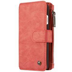 CaseMe Étui luxe 2-en-1 à rabat iPhone SE (2020) / 8 / 7 - Rouge