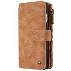 CaseMe Étui luxe 2-en-1 à rabat iPhone 8 Plus / 7 Plus - Brun