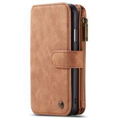 CaseMe Étui luxe 2-en-1 à rabat iPhone 11 - Brun