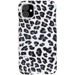Coque au motif léopard iPhone 11 - Blanc