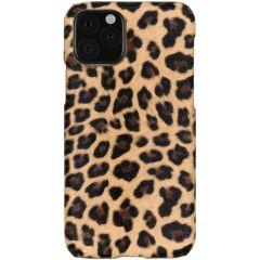 Coque au motif léopard iPhone 11 Pro - Brun