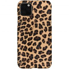 Coque au motif léopard iPhone 11 Pro Max - Brun