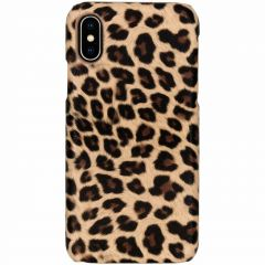 Coque au motif léopard iPhone X / Xs - Brun