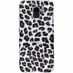 Coque au motif léopard Samsung Galaxy J6 - Blanc