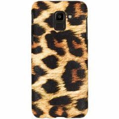 Coque au motif léopard Samsung Galaxy J6 - Brun
