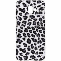 Coque au motif léopard Samsung Galaxy J6 Plus - Blanc