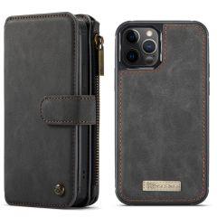 CaseMe Étui luxe 2-en-1 à rabat iPhone 12 (Pro) - Noir