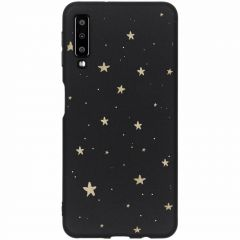 Coque design Color Samsung Galaxy A7 (2018) - Gold Stars