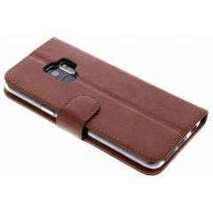 Valenta L'étui de téléphone Classic Luxe Samsung Galaxy S9 - Brun