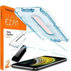 Spigen Protection d'écran GLAStR + applicateur iPhone SE (2020)/8/7