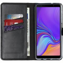 Selencia Étui de téléphone en cuir véritable Samsung Galaxy A7 (2018)