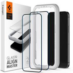 Spigen Protection d'écran AlignMaster Cover 2 Pack iPhone 12 (Pro)