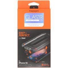 Spigen Protection d'écran GLAStR + applicateur iPhone X / Xs